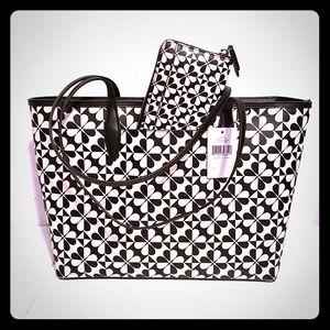 Kate Spade Hollie Spade Clover Geo Large Tote